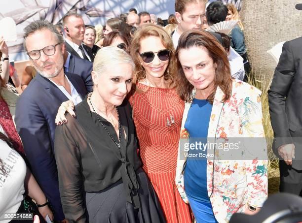 Maria Grazia Chiuri Marisa Berenson and a guest attend the Christian Dior Haute Couture Fall/Winter 20172018 show as part of Haute Couture Paris...