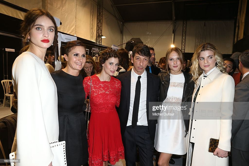<a gi-track='captionPersonalityLinkClicked' href=/galleries/search?phrase=Maria+Grazia+Chiuri&family=editorial&specificpeople=5551257 ng-click='$event.stopPropagation()'>Maria Grazia Chiuri</a>, <a gi-track='captionPersonalityLinkClicked' href=/galleries/search?phrase=Melanie+Bernier&family=editorial&specificpeople=5586176 ng-click='$event.stopPropagation()'>Melanie Bernier</a>, Pierpaolo Piccioli, <a gi-track='captionPersonalityLinkClicked' href=/galleries/search?phrase=Ana+Girardot&family=editorial&specificpeople=6991847 ng-click='$event.stopPropagation()'>Ana Girardot</a> and <a gi-track='captionPersonalityLinkClicked' href=/galleries/search?phrase=Cecile+Cassel&family=editorial&specificpeople=765054 ng-click='$event.stopPropagation()'>Cecile Cassel</a> attend the Valentino Fall/Winter 2013 Ready-to-Wear show as part of Paris Fashion Week on March 5, 2013 in Paris, France.