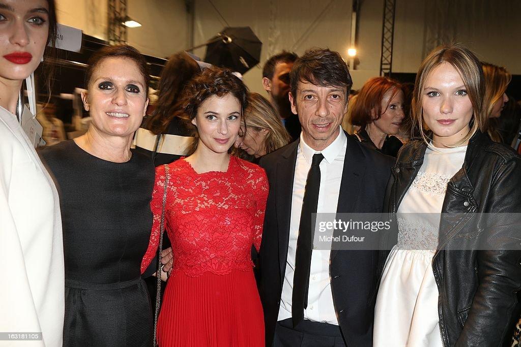 Maria Grazia Chiuri, Melanie Bernier, Pierpaolo Piccioli and Ana Girardot attend the Valentino Fall/Winter 2013 Ready-to-Wear show as part of Paris Fashion Week on March 5, 2013 in Paris, France.