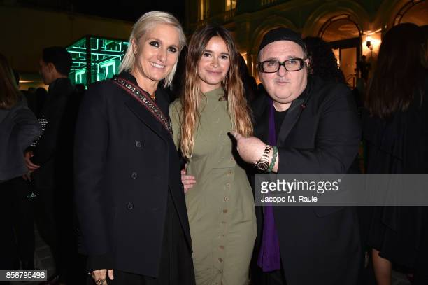 Maria Grazia Chiuri Miroslava Duma and Alber Elbaz attend Fashion Tech Lab launch event hosted by Miroslava Duma and Stella McCartney as part of...