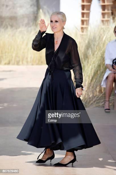 Maria Grazia Chiuri walks the runway during the Christian Dior Haute Couture Fall/Winter 20172018 show as part of Haute Couture Paris Fashion Week on...