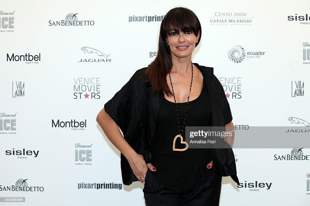 Maria Grazia Cucinotta Photocall At Villa Laguna - 71st Venice Film Festival