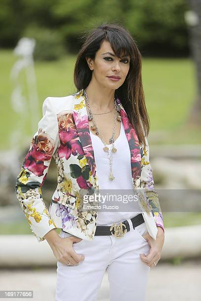 Maria Grazia Cucinotta attends the 'Epic' photocall at Orto Botanico on May 21 2013 in Rome Italy