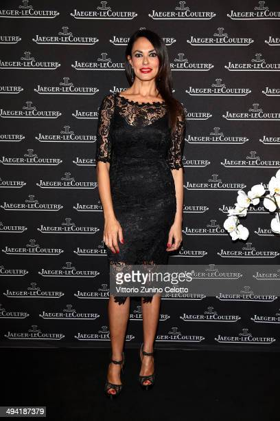 Maria Grazia Cucinotta attends the JaegerLeCoultre Boutique Opening on May 28 2014 in Rome Italy