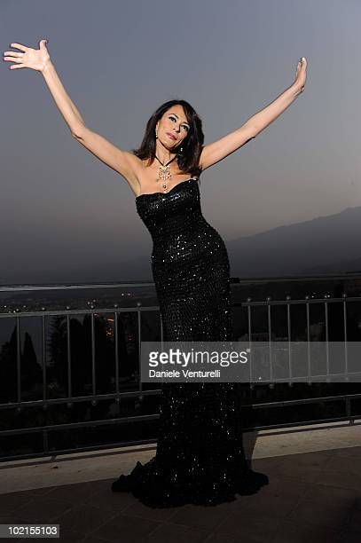 Maria Grazia Cucinotta attends the Taormina Arte Award during the Taormina Film Fest 2010 on June 16 2010 in Taormina Italy