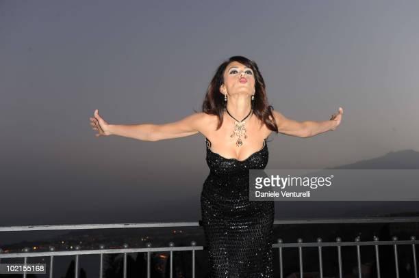 Maria Grazia Cucinotta attends the Taormina Arte Award during the Taormina Film Fest 2010 on June 16 2010 in Taormina Italy