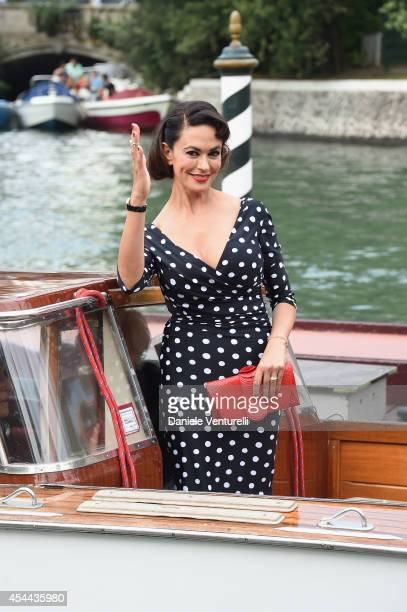 Maria Grazia Cucinotta presents her book 'Come Una Pin Up' by Douglas Kirkland during the 71st Venice Film Festival on August 31 2014 in Venice Italy