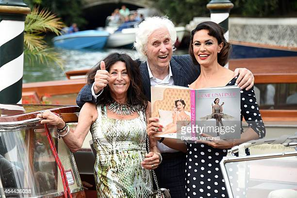 Maria Grazia Cucinotta presents her book 'Come Una Pin Up' by Douglas Kirkland with Douglas Kirkland and Francoise Kirkland during the 71st Venice...