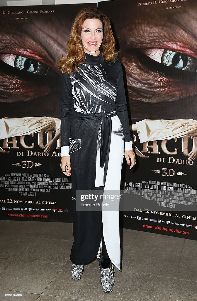 Maria Grazia Nazzari attends the 'Dracula in 3D' premiere at Cinema Barberini on November 21, 2012 in Rome, Italy.