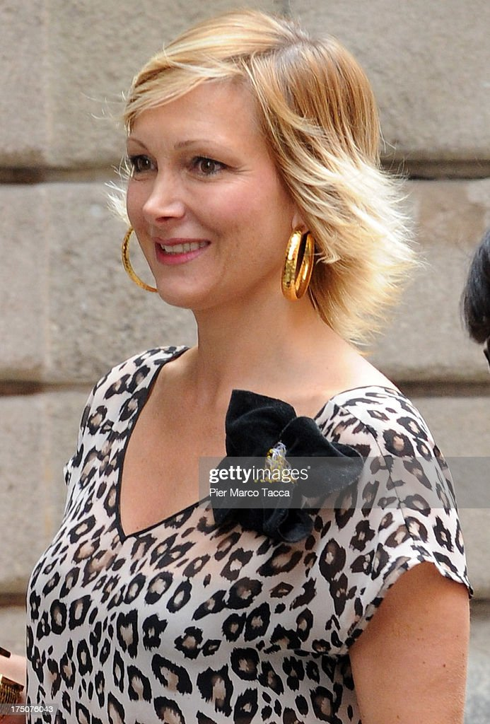 Maria Grazia Severi is sighted in via Montenapoleone on July 29, 2013 in Milan, Italy.