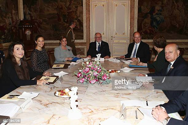 Maria Guleghina Crown Princess Victoria of Sweden Grand Duchess Maria Teresa of Luxembourg Sir Philip Craven Prince Albert II of Monaco and other...
