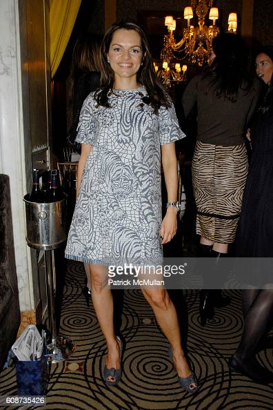 Maria Hatzistefanis attends MARIA HATZISTEFANIS presents GLAMOTOX at a glamorous upper east side luncheon at The Carlyle on December 3 2007 in New...