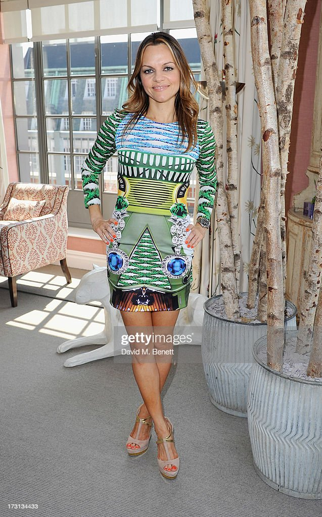 Maria Hatzistefanis attends Mary Katrantzou for Rodial candle launch party at Soho Hotel on July 8, 2013 in London, England.