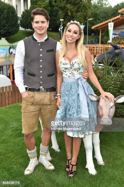 Maria Hering and Dominik Bruntner during the ProSieben Sat1 Wiesn as part of the Oktoberfest 2017 at Kaefer Tent on September 17 2017 in Munich...