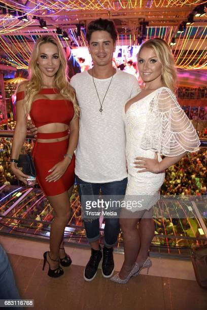 Maria Hering Dominik Bruntner and Mandy Lange during the Megapark Mallorca Season opening on May 14 2017 in Palma de Mallorca Spain