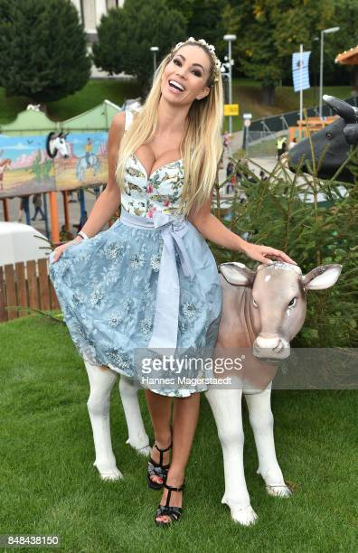Maria Hering during the ProSieben Sat1 Wiesn as part of the Oktoberfest 2017 at Kaefer Tent on September 17 2017 in Munich Germany