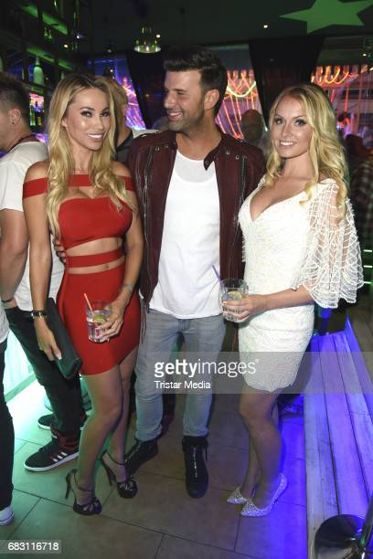 Maria Hering Jay Khan and Mandy Lange during the Megapark Mallorca Season opening on May 14 2017 in Palma de Mallorca Spain
