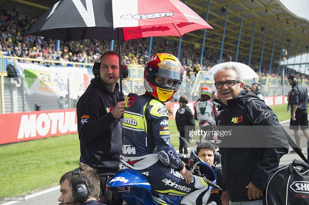 Maria Herrera of Spain and MH6 Team prepares to start on the grid during the Moto3 race during the MotoGP Netherlands - Race at on June 26, 2016 in Assen, Netherlands.