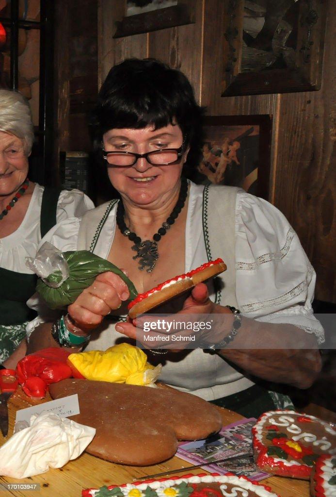 Maria Herzerl-Mitzi Eder attends the beauty competition 'Miss Wiener Wiesn-Fest 2013' at Bettel-Alm on June 6, 2013 in Vienna, Austria.