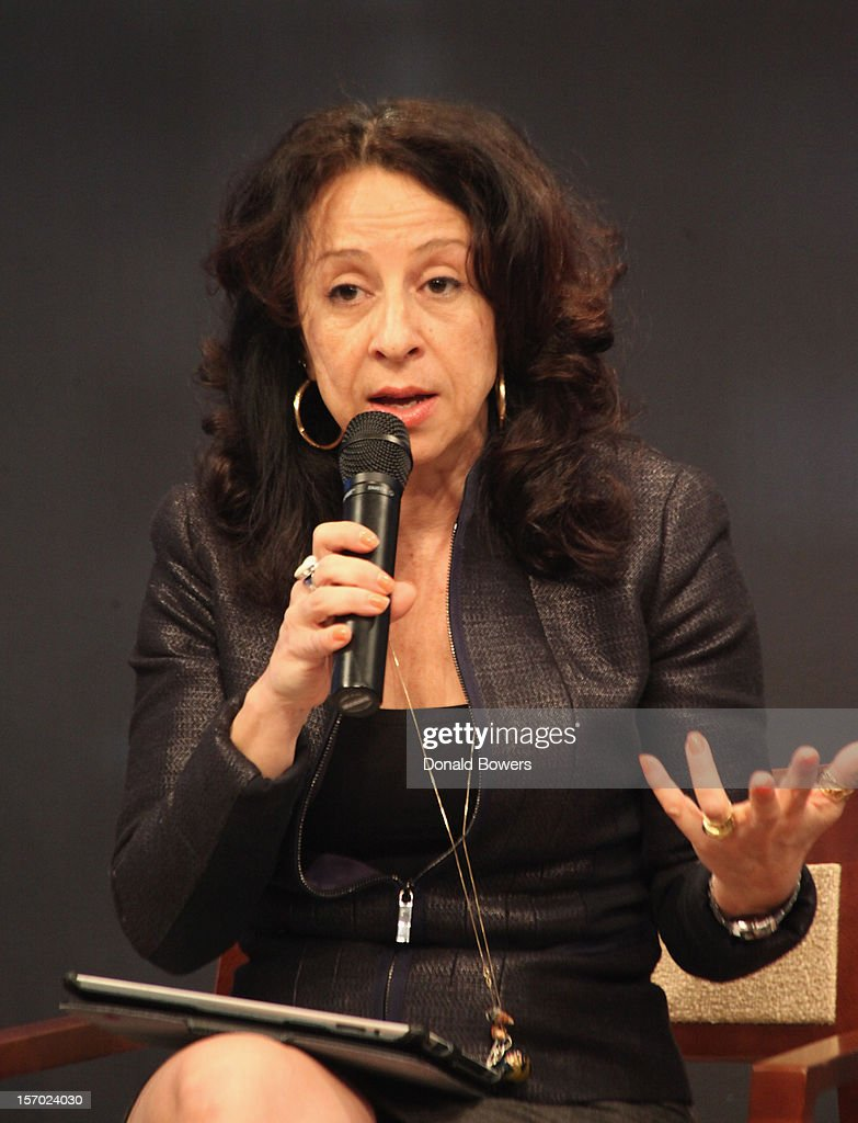 Maria Hinajosa speaks during a panel at The Ford Foundation Hosts Day Of Discussion On The Hidden World Of Domestic Work In The US at Ford Foundation on November 27, 2012 in New York City.