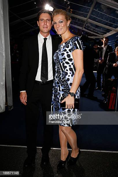 Maria HoeflRiesch and her husband Marcus Hoefl attend the Laureus Media Award 2012 on November 05 2012 in Kitzbuehel Austria