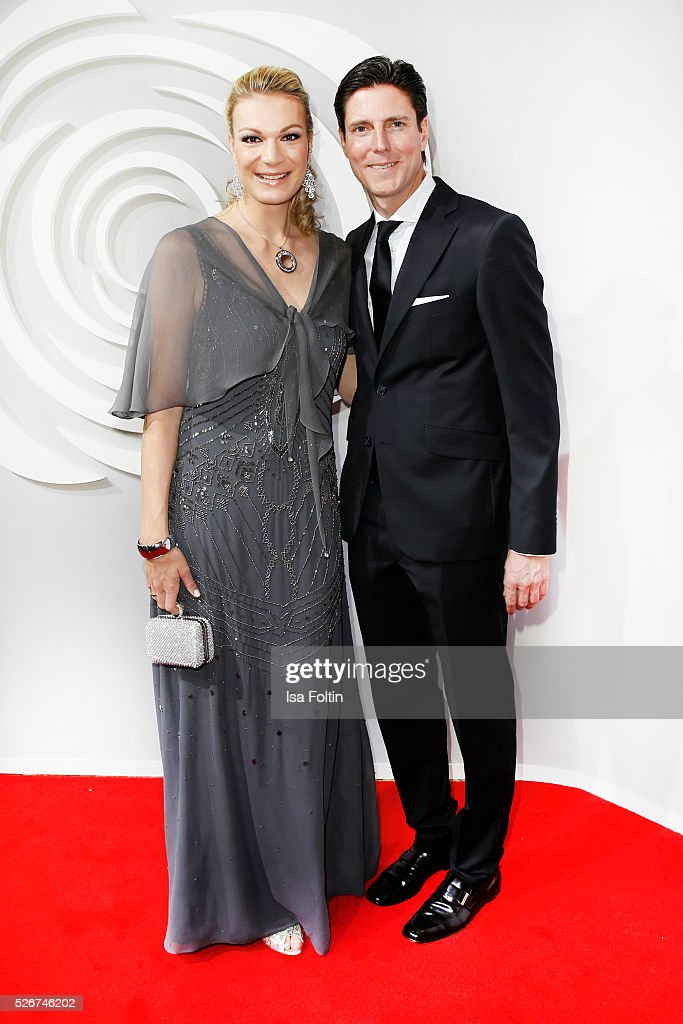 Maria Hoefl-Riesch and her husband Marcus Hoefl attend the Rosenball 2016 on April 30, 2016 in Berlin, Germany.