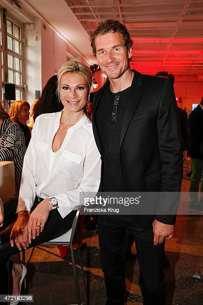 Maria HoeflRiesch and Jens Lehmann attend the OTTO Exclusive Sport Cooperation celebrations on May 04 2015 in Munich Germany