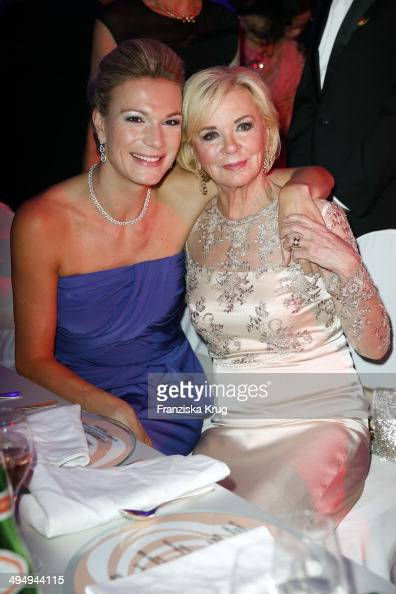 Maria HoeflRiesch and Liz Mohn attend the Rosenball 2014 on May 31 2014 in Berlin Germany
