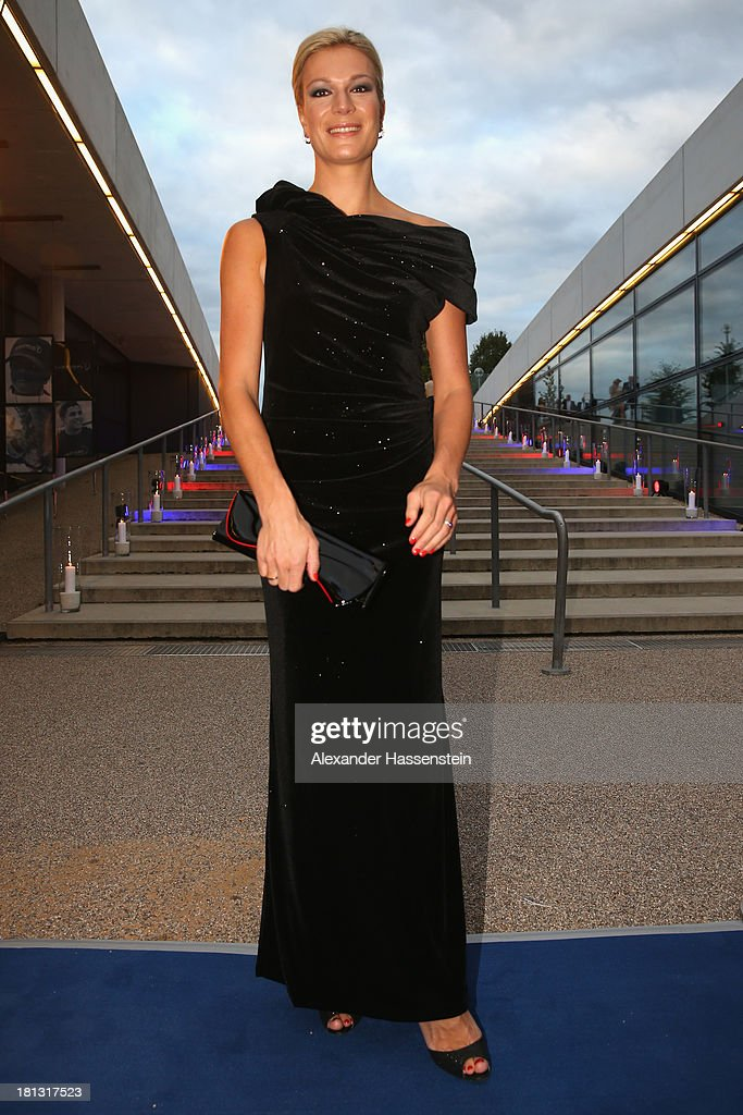 Maria Hoefl-Riesch arrives at the red carpet prior the Laureus Sport for Good Night 2013 at Munich Olympiahalle on September 20, 2013 in Munich, Germany.