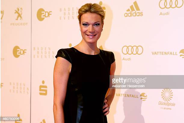 Maria HoeflRiesch arrives for the Sportler des Jahres 2014 gala at the Kurhaus BadenBaden on December 21 2014 in BadenBaden Germany