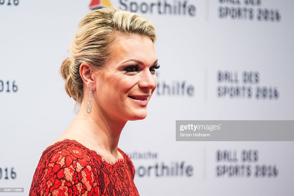 Maria Hoefl-Riesch attends German Sports Gala 'Ball des Sports 2016' on February 6, 2016 in Wiesbaden, Germany.