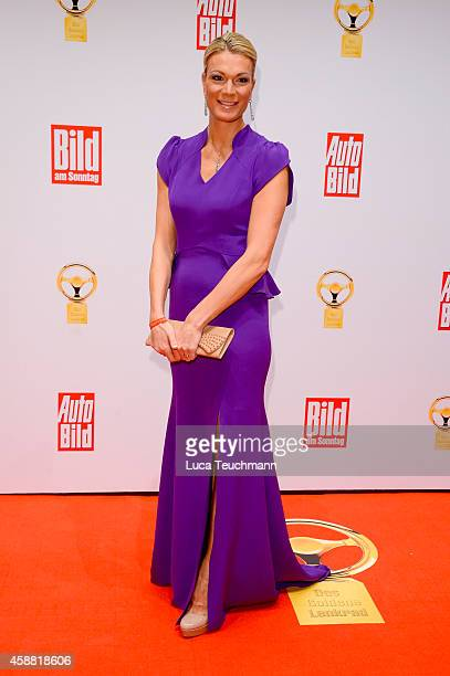 Maria HoeflRiesch attends 'Goldenes Lenkrad' Award 2014 at Axel Springer Haus on November 11 2014 in Berlin Germany