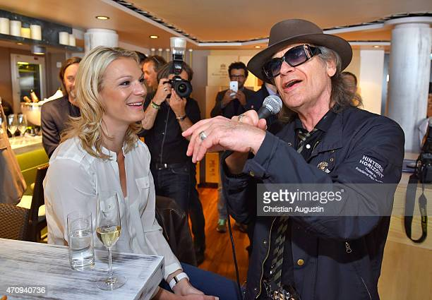 Maria HoeflRiesch attends performance of Udo Lindenberg at the new 'Sansibar' on board of the MS Europa 2 on April 24 2015 in Hamburg Germany