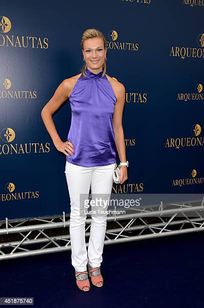 Maria HoeflRiesch attends the 'Arqueonautas Presents Kevin Coster Music Meets Fashion' at Spindler Klatt on July 8 2014 in Berlin Germany