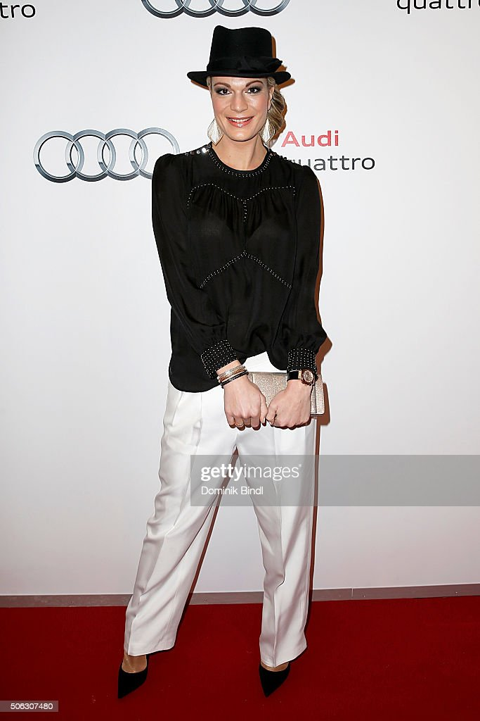 Maria Hoefl-Riesch attends the Audi Night 2016 at Hotel zur Tenne on January 22, 2016 in Kitzbuehel, Austria.