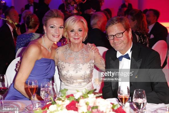 Maria HoeflRiesch Liz Mohn and Guido Westerwelle attend the Rosenball 2014 on May 31 2014 in Berlin Germany