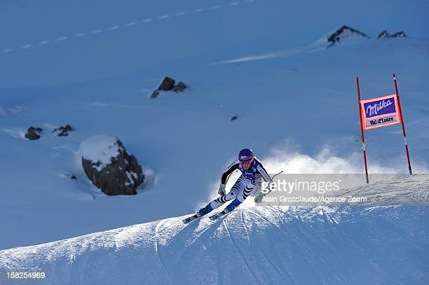 Maria HoeflRiesch of Germany competes during the Audi FIS Alpine Ski World Cup Women's Downhill training on December 12 2012 in Val d'Isere France
