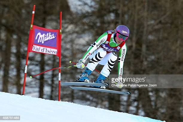 Maria HoeflRiesch of Germany competes during the Audi FIS Alpine Ski World Cup Women's Downhill on December 21 2013 in Val d'Isere France