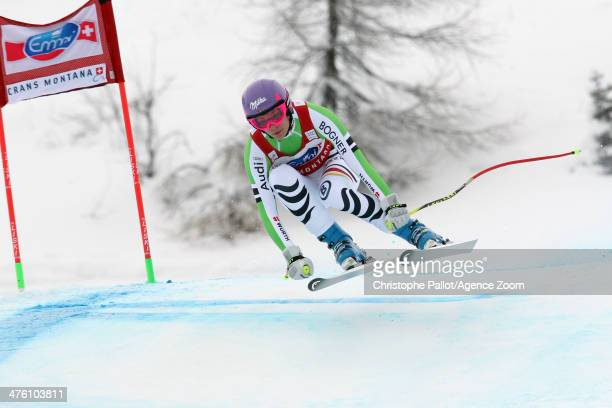 Maria HoeflRiesch of Germany competes during the Audi FIS Alpine Ski World Cup Women's Downhill on March 02 2014 in CransMontana Switzerland