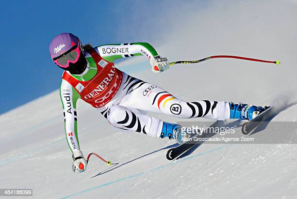 Maria HoeflRiesch of Germany takes 1st place during the Audi FIS Alpine Ski World Cup Women's Downhill on December 07 2013 in Lake Louise Canada