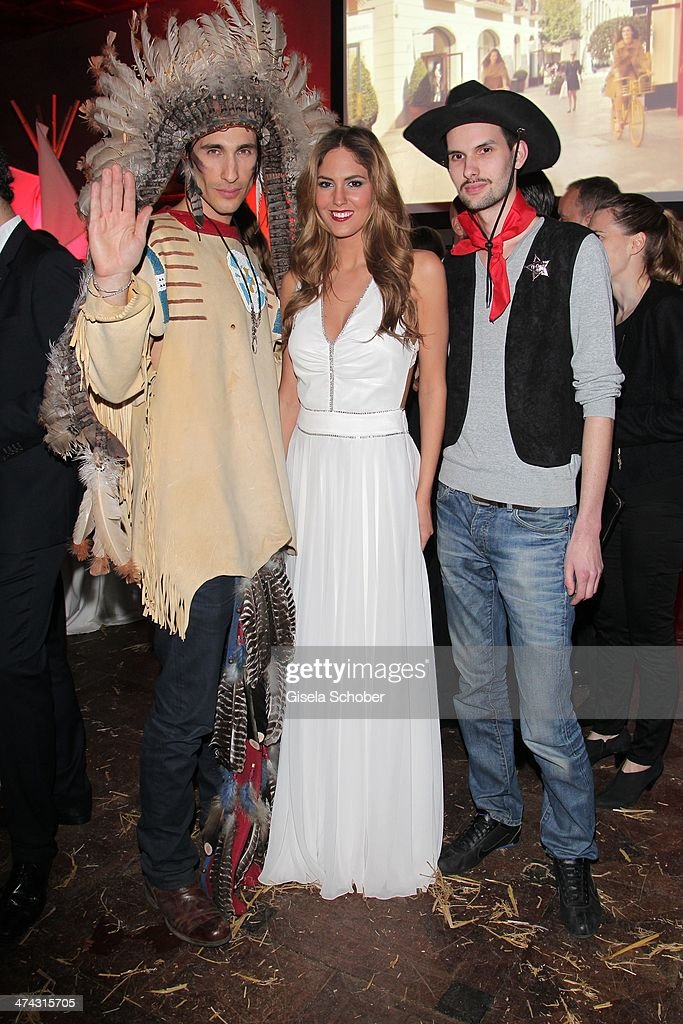 Maria Imizcoz (ex-girlfriend of Javi Martinez) attends the Dresswestern party ( by Dresscoded and Ingolstadt Village) at Rilano No 6 on February 22, 2014 in Munich, Germany.
