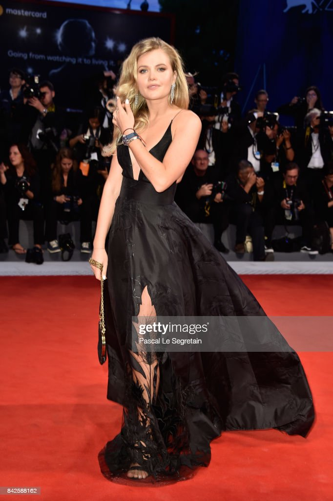 Maria Ivakova walks the red carpet wearing a Jaeger-LeCoultre watch ahead of the 'Three Billboards Outside Ebbing, Missouri' screening during the 74th Venice Film Festival at Sala Grande on September 4, 2017 in Venice, Italy.