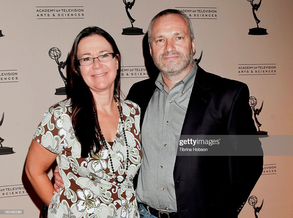 Maria Jacquemetton and Andre Jacquemetton attend the 64th primetime Emmy Awards writers' nominee reception at Academy of Television Arts & Sciences on September 20, 2012 in North Hollywood, California.
