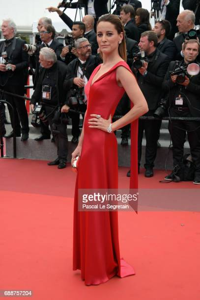 Maria Joao Bastos attends 'Amant Double ' Red Carpet Arrivals during the 70th annual Cannes Film Festival at Palais des Festivals on May 26 2017 in...