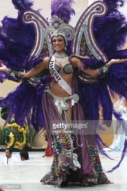 Maria Jose Maldonado Miss Universe Paraguay 2007 wearing national costume