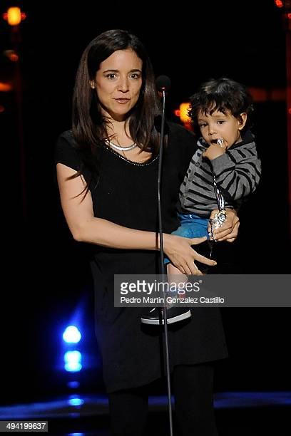 Maria Jose Secco receives the Ariel award for best photography during the 56th Ariel Awards Ceremony at Palace of Fine Arts on May 27 2014 in Mexico...
