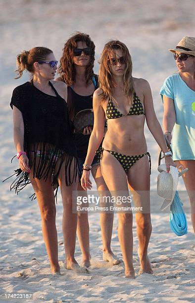 Maria Jose Suarez and Raquel Rodriguez are seen on July 21 2013 in Ibiza Spain