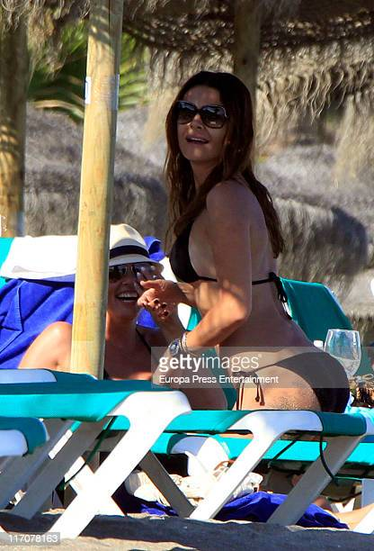 Maria Jose Suarez and Raquel Rodriguez are seen sighting on June 21 2011 in Marbella Spain