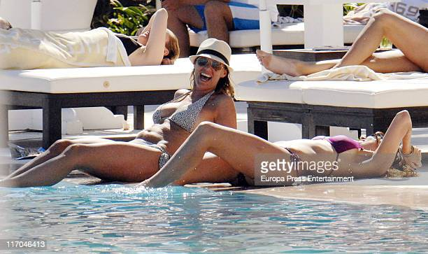 Maria Jose Suarez and Raquel Rodriguez sighted on June 20 2011 in Marbella Spain