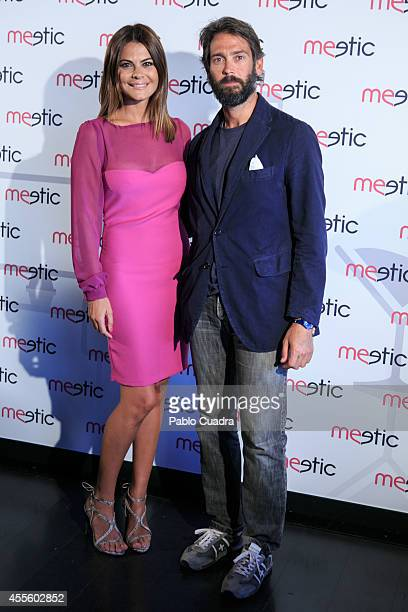 Maria Jose Suarez and Sebastian Palomo Danko pose during a photocall to present a Meetic event on September 17 2014 in Madrid Spain